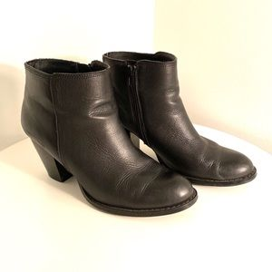 Seychelles black booties, size 10